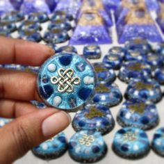 Spiritual Growth orgonite pendants with lapis lazuli amethyst and howlite  by orgoniseyourself