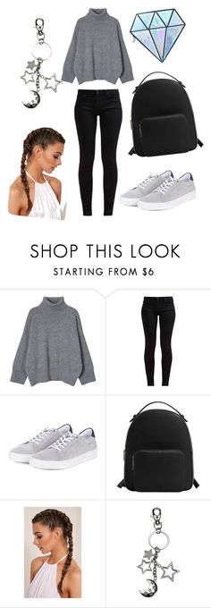"""# cold"" by viki-pokorna ❤ liked on Polyvore featuring 7 For All Mankind, Barbour, MANGO and Unicorn Lashes"