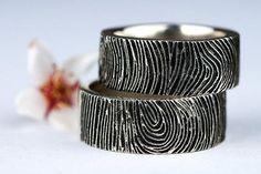 Personalized Initial Fingerprint Ring
