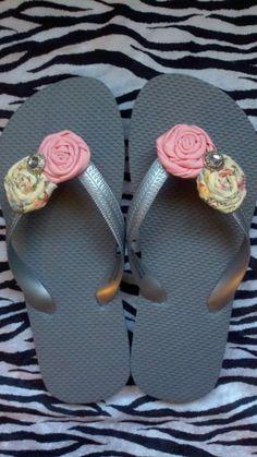 a3721e37fe241c Custom Flip Flops...made to match for a bride  amp  her bridal