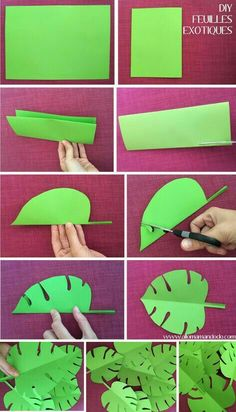 diy feuille exotique pliage vaiana use with that solar fabric paint.Graphic Mobile Party Decoration diy exotic leaf folding vaiana Source by melekbozkurt homejobs.xyz/… Graphic Mobile Party Decoration diy exotic leaf folding vaiana Source by melekb Diy Paper, Paper Crafting, Diys With Paper, Dinosaur Birthday Party, Moana Birthday Party Ideas, Luau Birthday, Jungle Theme Birthday, Aloha Party, Hawaiian Birthday