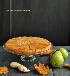 Obrácený hruškový koláč se zázvorem a javorovým sirupem Pie, Baking, Sweet, Food, Syrup, Torte, Candy, Cake, Fruit Cakes