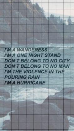 Hurricane, Halsey. Source: lock-screens on tumblr