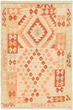 "Dollhouse miniatures self fringed rug in multi shades of tan w//cream 5 3//4/"" x 9/"""