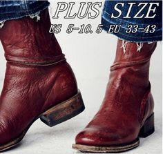 purchase cheap 64334 a2531 Cheap Zapatos de mujer zapatos de tobillo botas nueva zapatos de cuero  Vintage DB059, Compro