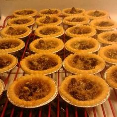 Butter Tarts Recipe.  Added some vanilla & a bit of corn syrup