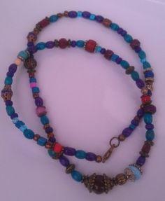 Boho lánc Beaded Necklace, Beaded Bracelets, Handmade Necklaces, Boho, Jewelry, Beaded Collar, Jewlery, Pearl Necklace, Jewerly