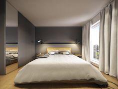 Modern Scandinavian Apartment Interior Design With Gray Color Shade Small Apartment Interior, Scandinavian Apartment, Scandinavian Interior Design, Bedroom Apartment, Scandinavian Bedroom, Design Interior, Minimalist Scandinavian, Simple Interior, Interior Modern