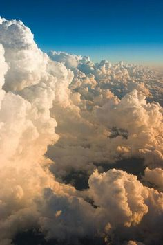 Incredible deck of clouds from above
