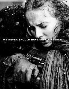 Sansa Stark and Jon Snow Game of Thrones - #GameofThrones #GoT
