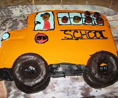 Celebrate the new school year with a dessert that's as fun to make as it is to eat. How fun are the donut tires?!