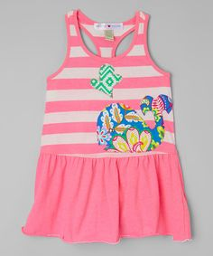 This Heather Hot Pink Whale Tank Dress - Infant, Toddler & Girls by mini scraps is perfect! #zulilyfinds