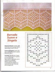 Filet crochet Ganchillo puntilla punto de red