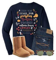 """""""I love Fall"""" by flroasburn ❤ liked on Polyvore featuring Abercrombie & Fitch, Ray-Ban and UGG"""