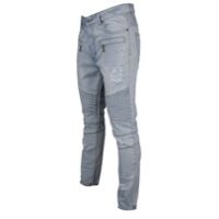Civil Clothing Dean Denim Thrashed Biker Ribbed Jeans - Men's - Light Blue / Light Blue