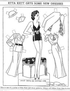 ETTA KETT Gets Some New Dresses,  4-8-33