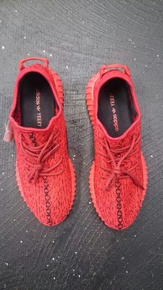 Red Adidas Yeezy Boost 350