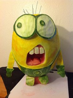Minion (Despicable Me) by Ryan A. Click to vote for your favorite #watermelon carving!
