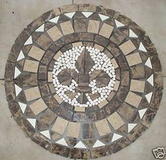 Floor Tile Medallion Of A Compass Rose New Home Design