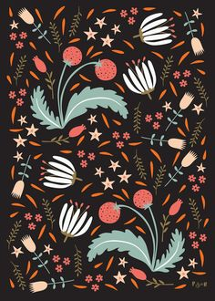 Ditsy Collection by Poppy & Red , via Behance