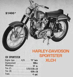 Sportster Cafe Racer, Ironhead Sportster, Harley Davidson Sportster, Bobber, Desert Sled, Refrigeration And Air Conditioning, Motorcycle Posters, Classic Harley Davidson, Engine Types