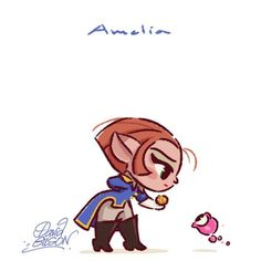 Captain Amelia [feat. Morph] (Chibis by PrinceKido @deviantART) #TreasurePlanet