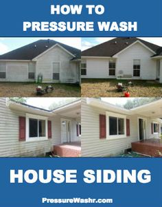 How to pressure wash your house siding to increase curb appeal and increase the life of your home exterior.