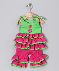 Take a look at this Hot Pink Rumba Top & Pants - Infant & Toddler by Mud Pie on #zulily today!