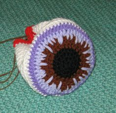 Eyeball Oddment Bag of Holding - Hand Crocheted   n2ImaginationDesign - Bags & Purses on ArtFire