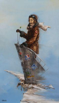 Catherine Chauloux   ACRYLIC   La Pirate De L'air
