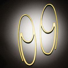 14 k gold Oval Hoops von Revonav auf Etsy