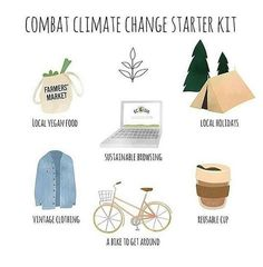 Your starter kit to combat climate change! Have these things and you'll make a huge difference for our planet.