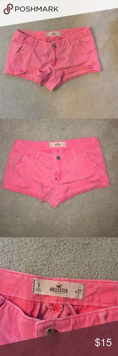 Pink Hollister shorts In good condition, comment any questions! Hollister Shorts