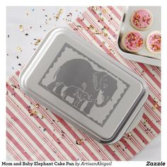 Sold! Thank you to the customer and enjoy! Mom and Baby Elephant Cake Pan; ArtisanAbigail at Zazzle