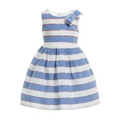 Simonetta White Cotton Multicolour Ruffle Dress ❤ liked on Polyvore featuring baby and baby girl