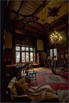 The Enchanted Storybook. Absolutely beautiful music room. A bit dark, but romantic.