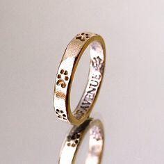 Bronze Stacking Paw Print Ring- Size 6 1/4 Ring- Dog Lover Jewelry- Animal Ring- Cat Paw Print Ring- Thin Ring- Skinny Ring $25