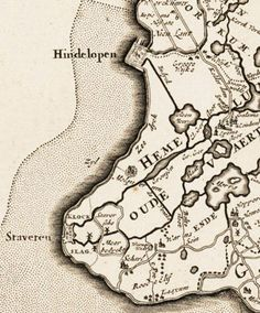 c. 1665 map of southwest Friesland (Netherlands) showing the towns of Stavoren and Hindeloopen.