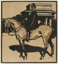 William Nicholson Policeman #lithograph #londontypes #horse
