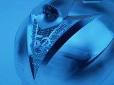 The blue collection: Workpiece Dimensions to make the Motorcycle helmet: 400 x 300 x 300 mm, Material A7N01-T6 Aluminum