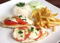 Krabi, Caprese Salad, Mozzarella, Ham, Chicken Recipes, Food And Drink, Menu, Meat, Kochen