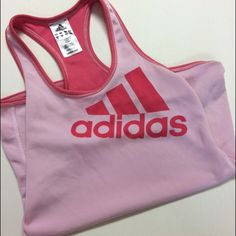 ❕Pale Pink Sports Shirt❕ Working out can be tough. Unless you buy some cute workout gear. Am I right? This adidas tank top is adorable, comfortable, and did I mention ADORABLE.  It is used & so there are little tiny stains on random spots. However, they are not noticeable. Any more questions, please ask! Adidas Tops Tank Tops