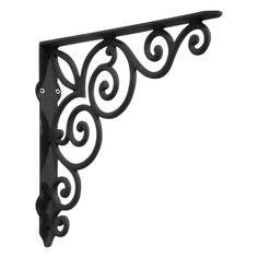Victorian Iron Shelf Bracket - Black Powder Coat