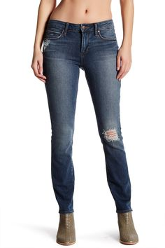 Shannon Distressed Straight Leg Jean