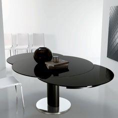 Tavolo rotondo allungabile Giro Bontempi Casa con struttura a base colonna, tanto design al giusto prezzo. Giro, il tavolo rotondo più bello del web.