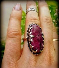 Big Stone Red Ruby Ring, Kashmir Ruby Sterling Silver Ring for Women,Statement Ring, Boho Ring, Large Gemstone Birthstone Bohemian Jewelry – Ruby Jewelry Ruby Jewelry, Metal Jewelry, Jewelry Art, Jewelry Rings, Silver Jewelry, Unique Jewelry, Jewelry Design, Silver Earrings, Jewelry Ideas