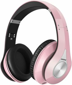 Mpow 059 Bluetooth Headphones Over Ear Hi-fi Stereo Wireless Headset Foldable - Pink for sale online Pink Headphones, Beats Headphones, Over Ear Headphones, Wireless Headset, Bluetooth Headphones, Earmuffs, Electronics Gadgets, Gifts, Protein