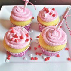 Darling & EASY Lemon Raspberry Valentine Cupcakes!