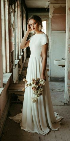 Dream Wedding Dresses, Bridal Dresses, Gown Wedding, Wedding Cakes, Wedding Rings, Wedding Bride, Mormon Wedding Dresses, A Line Dress Wedding, Casual Wedding Dresses