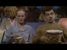 Quick clip mran mran pinterest mr bean mr bean goes to watch a horror movie with his girlfriend but is too scared he covers his head with his popcorn bucket solutioingenieria Gallery